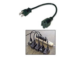 Ziotek 14in Power Strip Liberator Extension Cable - 5 pack