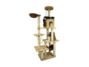 Armarkat X7805 78 Inch Ultra-soft Premium Cat Tower Tree in Golden Rod