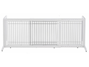 "Richell Freestanding Pet Gate Large White 39.8"" - 71.3"" x 17.7"" x 20.1"" - R94157"