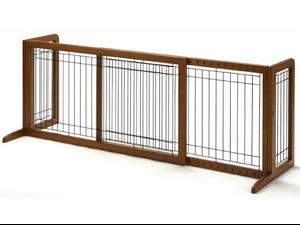 """Richell Freestanding Pet Gate HL Autumn Matte 39.4"""" - 70.9""""x23.6""""x27.6"""" - R94147"""