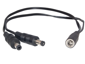 Offex Wholesale Power Y-Cable 1 Female (DC Socket) to 2 Male (DC Plug), 1 ft