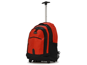 Olympia 19 inch Rolling Carry-On Wheeled Travel Backpack Luggage / Book Bag in Red