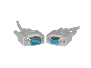Offex Serial Extension Cable, DB9 Male to DB9 Female, RS-232, UL rated, 9 Conductor, 1:1, 15 foot