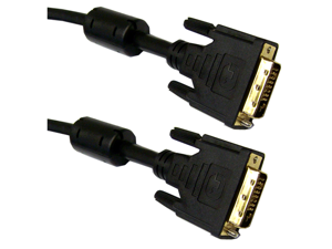 Cable Wholesale DVI-D Dual Link Cable with Ferrite, Black, DVI-D Male, 8 meter (26.4 foot)