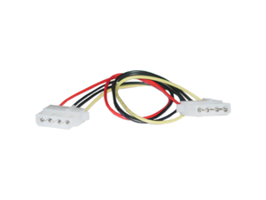 Cable Wholesale 4 Pin Molex Cable, 5.25 inch Female to 5.25 inch Female, 12 inch