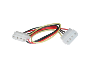 Cable Wholesale 4 Pin Molex Extension Cable, 5.25 inch Male to 5.25 inch Female, 12 inch