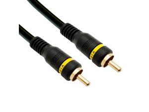 Cable Wholesale High Quality Composite Video Cable, RCA Male, Gold-plated Connectors, 35 foot