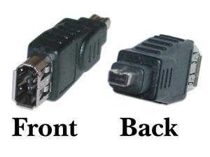 Firewire Adapter, IEEE-1394a , 6 Pin Female / 4 Pin Male