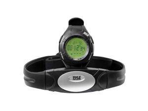 Pyle Advance Heart Rate Watch With Walking Or Running Sensor Training Zones, And Calorie Counter