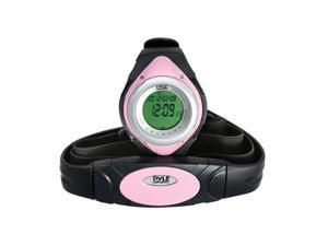 Pyle Heart Rate Monitor Watch W/Minimum, Average Heart Rate, Calorie Counter, and Target Zones(Pink Color)