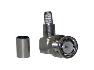 3-Peice Right Angle Crimp style BNC Male Connector