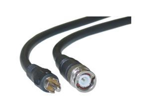 RG59U Coaxial BNC to RCA Video Cable Black BNC Male to RCA Male 75 Ohm 6 foot