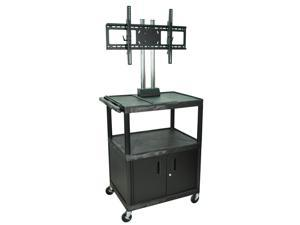 "H.Wilson Mobile Cart With Universal LCD TV Mount 44"" Black"