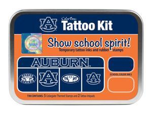 Clearsnap School Auburn University Sports Logo Colorbox Tattoo Kit Orange, Blue