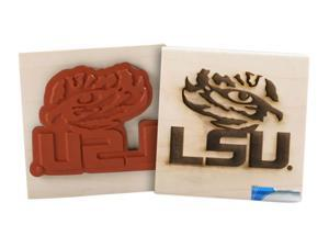 Clearsnap School Louisiana State University Sports Logo Wood Mount Rubber Stamp