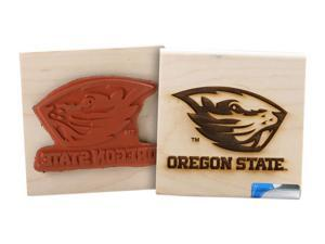 Clearsnap Oregon State University Sports Team Logo Wood Mount Rubber Stamp