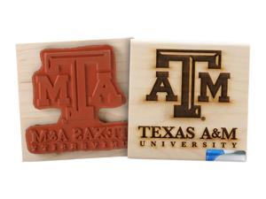 Clearsnap Texas A  M Sports Team Logo Licensed Wood Mount Rubber Stamp
