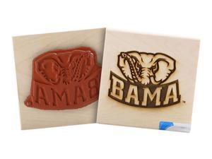 Clearsnap University of Alabama Sports Team Logo Wood Mount Rubber Stamp