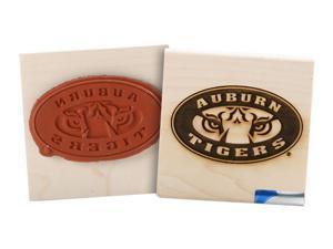 Clearsnap School Auburn University Sports Team Logo Wood Mount Rubber Stamp