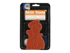 Clearsnap Oklahoma State University Sports Team Logo Colorbox Decor Stamp