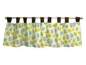 Trend Lab Baby Bedding Infant Nursery Crib Chibi Zoo Tab Top Window Valance