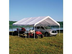 "ShelterLogic 18x20 Feet Outdoor White Canopy Replacement Cover Fits 2"" Frame"