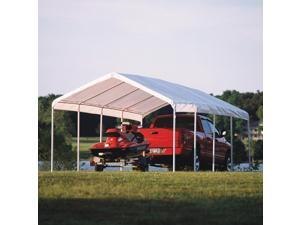 """ShelterLogic 12x26 Feet Outdoor White Canopy Replacement Cover Fits 2"""" Frame"""