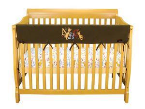 Trend Lab Cribwrap Wide Rail Cover - Long Brown Fleece Dr. Seuss Abc