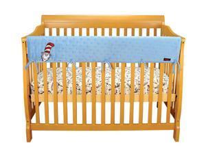Trend Cribwrap Wide Rail Cover  Long Blue Star Velour Dr. Seuss Cat In The Hat
