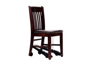 "ComforTek Seating Health Care Hospital Daily Mobility Assist 18"" Chair Mahogany With Expresso Vinyl Seat"