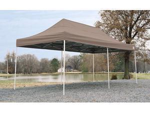 ShelterLogic 10x20 ST Pop-up Canopy, Desert Bronze Cover, Black Roller Bag