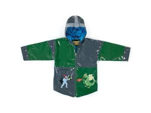 Kidorable Kids Children Outwear Grey Dragon Knight PU Coats Size 6/6X