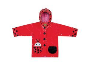 Kidorable Kids Children Outwear Ladybug PU Rain Coats Size 2T