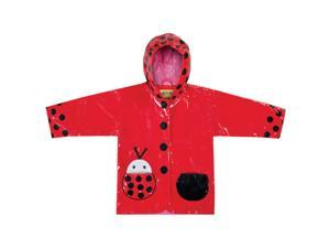 Kidorable Kids Children Outwear Ladybug PU Rain Coats Size 4T