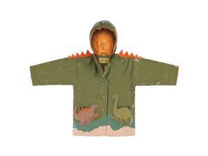 Kidorable Kids Children Outwear Green Dinosaur PU Coats Size 6/6X