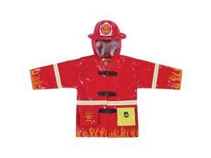 Kidorable Kids Children Outwear Red Fireman PU Coats Size 6/6X