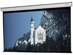 """Model C Matte White Surface Manual Wall Mount Built in Pull Down Presentation Projection Screen 120"""" x 160"""""""