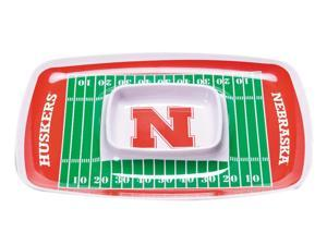 BSI Home Kitchen Serving Sports Team Logo Nebraska Cornhuskers Chip & Dip Tray
