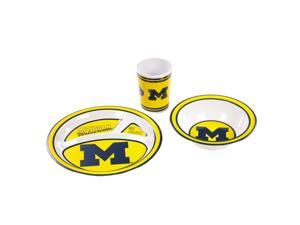 BSI Michigan Wolverines Kid's 3 Pc. Dish Set