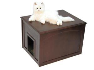 Crown Pet Home Indoor Cat Litter Cabinet with Espresso Finish