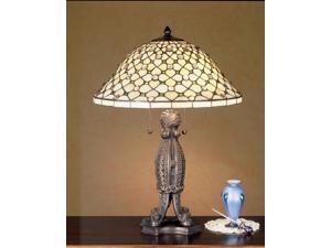"Meyda Home Lighting Window 24""H Diamond & Jewel Table Lamp 37781"