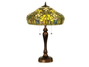 "Meyda Home Indoor Bedroom Decorative 25""H Tiffany Jonquil Table Lamp"