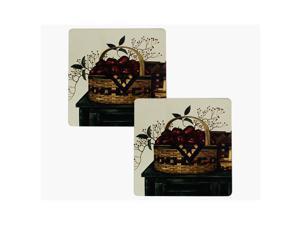"Range Kleen Kitchen Set of 2 Hot Pad Basket Design Collection 7x7"""