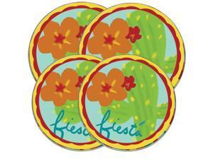 "Range Kleen Kitchen Electric Stove Cooktop Round Burner Kovers ""Fiesta"" Hallmark"