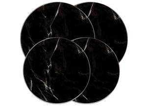 "Range Kleen Kitchen Electric Stove Cooktop Round Burner Kovers ""Black Marble"""