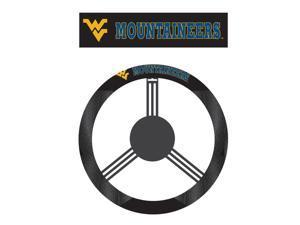 Fremont DieWest Virginia Mountaineers Poly-Suede Steering Wheel Cover