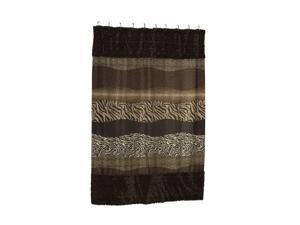 Carnation Home Fashions Felina Faux Fur-Trimmed Shower Curtain