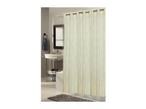 Carnation Home Fashions Living Room Decorative Extra Long, EZ-ON Bristol Polyester Shower Curtain