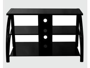 Stilletto TV Stand Black/Black Glass-60625