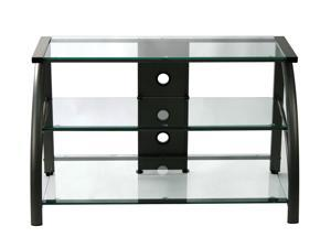 Stilletto TV Stand Black/Black Glass-60626